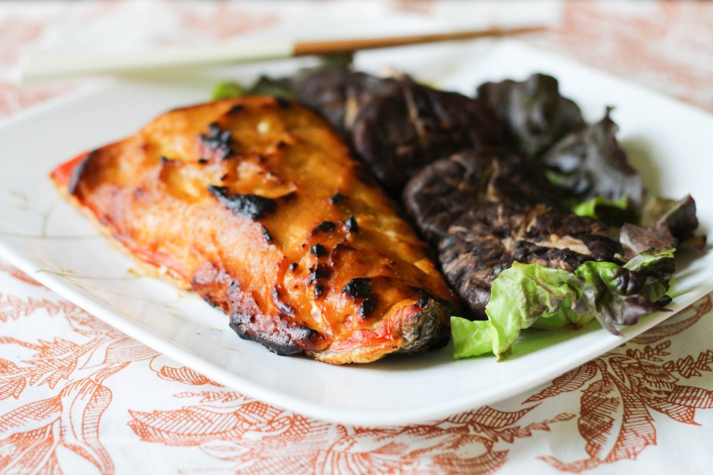 Broiled Salmon with Tama-Miso Glaze