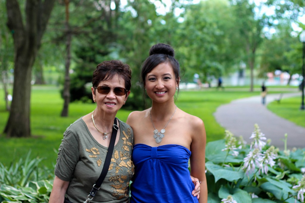 My grandmother--my Mommy!--and me at Boston Commons