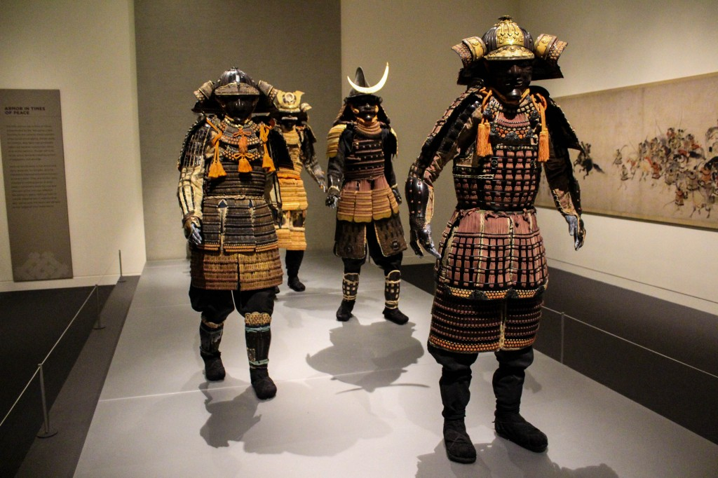 Samurai! The armor is so intricate--it's gorgeous. 100% worth seeing in person.