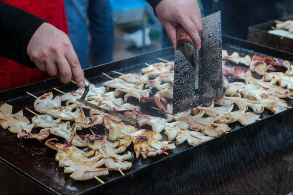 Grilled squid--the smell is intoxicating