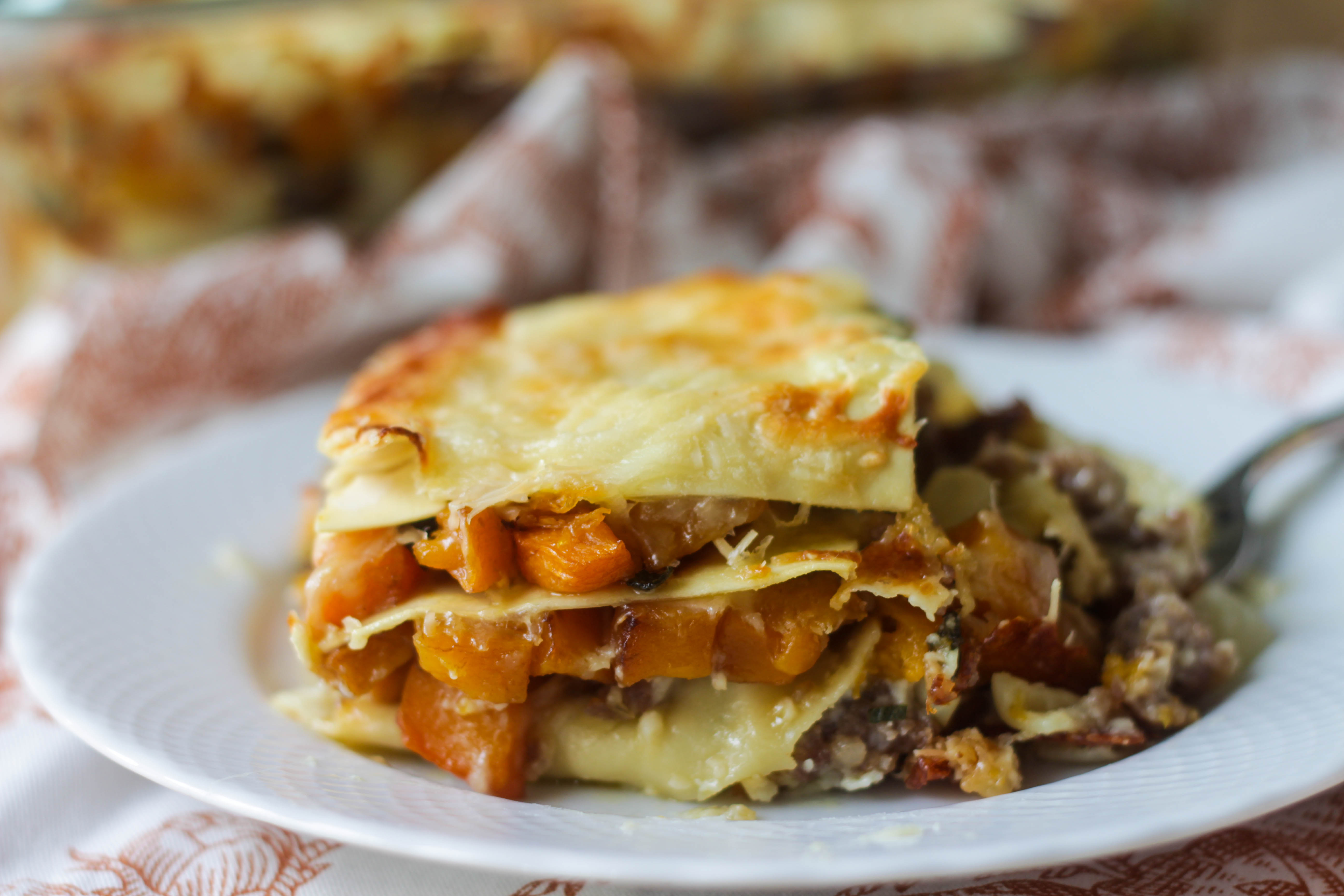 Roasted Butternut Squash Lasagna | umami holiday.