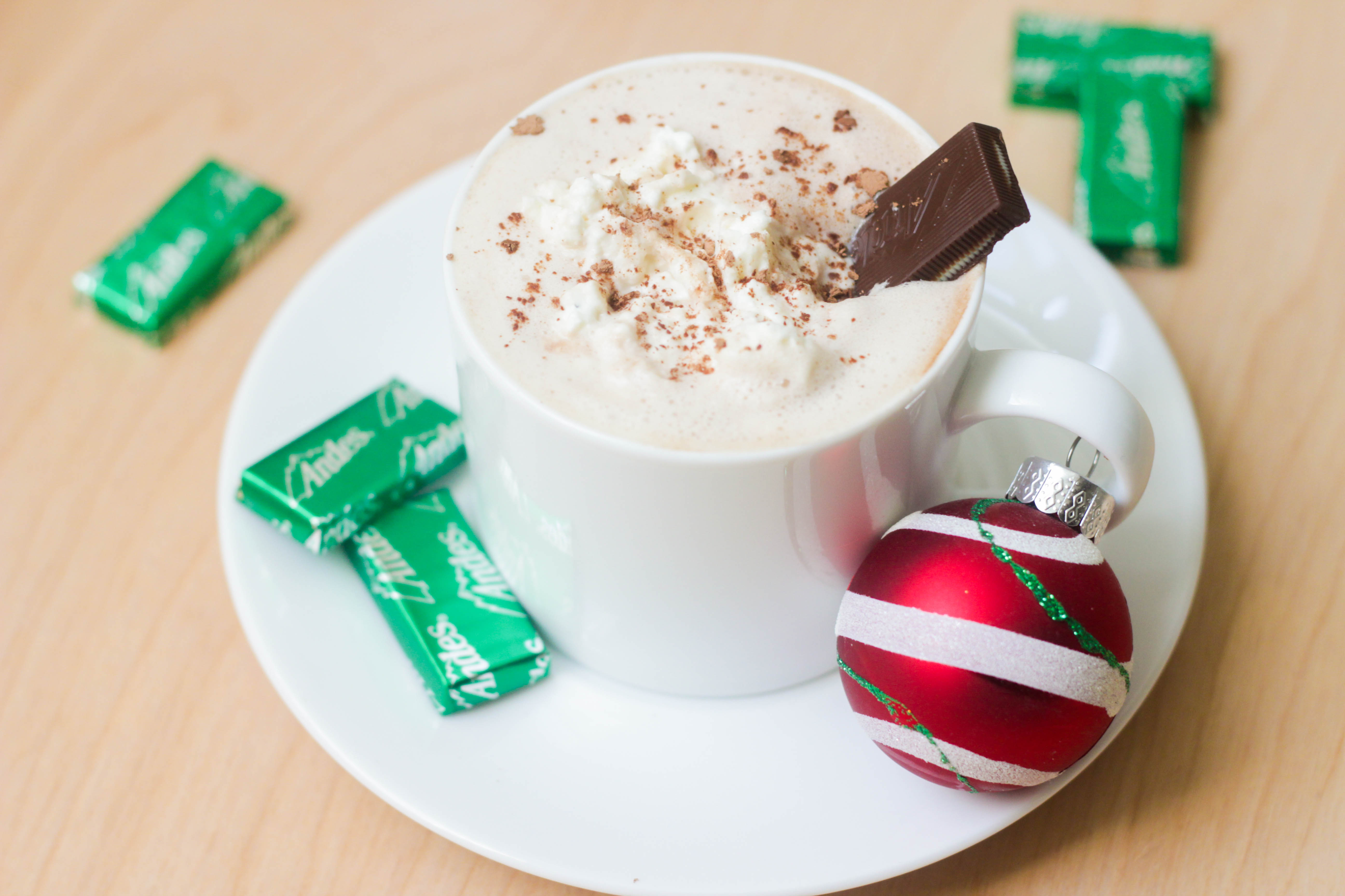 Andes® Mint Hot Chocolate   umami holiday.