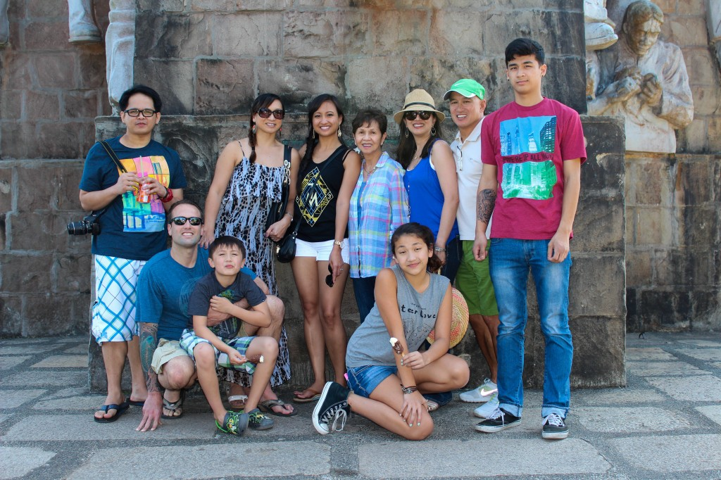 Just a fraction of my awesome family at Mt. Samat, Bataan