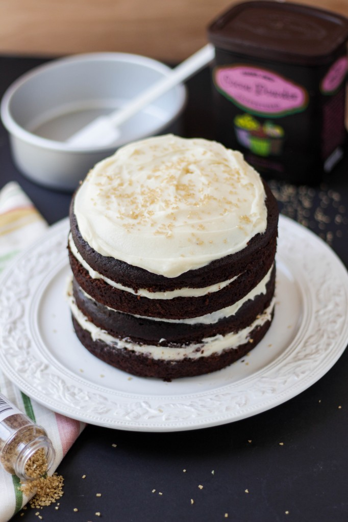 Chocolate Whiskey Layer Cake With Irish Creme Frosting