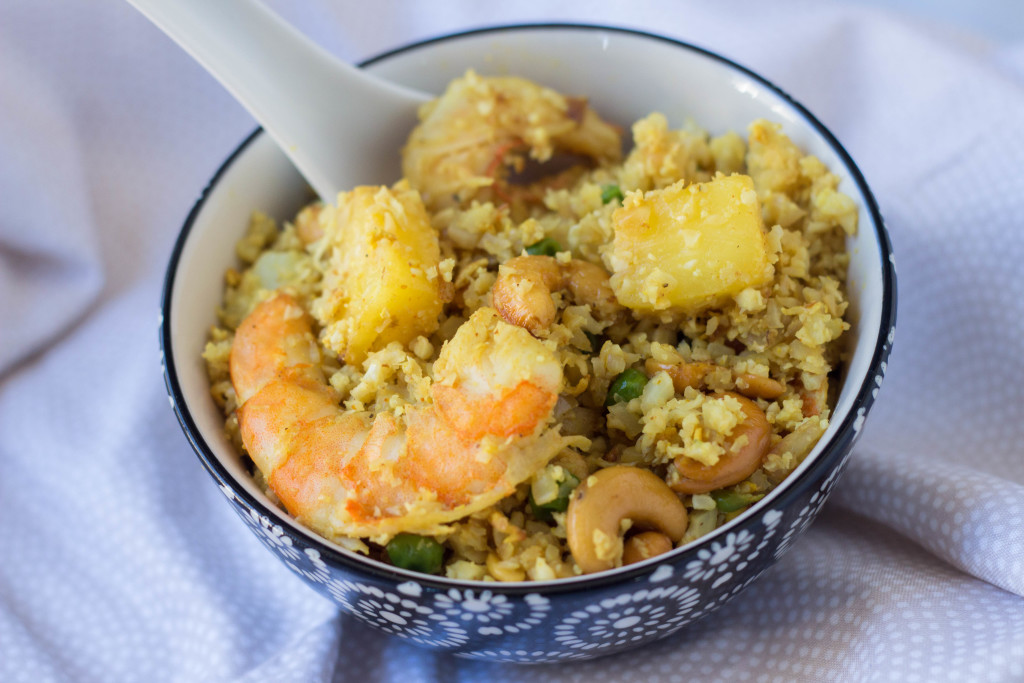 pineapple fried cauliflower rice